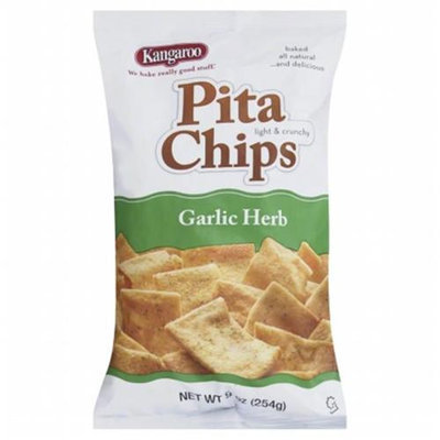 Kangaroo Chip Pita Garlic Herb 9 Oz Pack Of 12