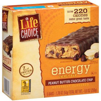 Life Choice Energy Peanut Butter Chocolate Chip Energy Bars, 1.76 oz, 5 count