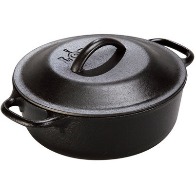 Lodge Logic 2-Quart Serving Pot with Iron Cover