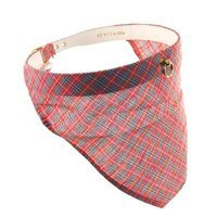 Pet Supply Imports Red Scottie Adjustable Plaid Dog Collar, 24 Inch Neck