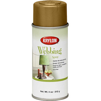 Krylon 137435 Webbing Spray 4 Ounces-Gold