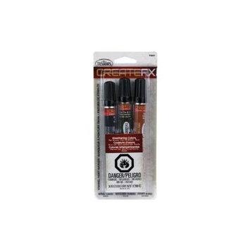 Testors Createfx Marker Set .33oz 3/Pkg - Rail Brown, Rail Tie Brown and Rust
