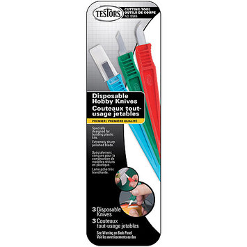 Testors Disposable Hobby Knives, 3/pkg