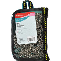Singer QuiltPro Safety Pins in Fashion Pouch - Size 3 100-pack