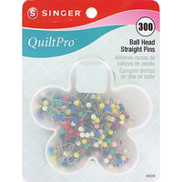 Singer Quiltpro Ball Head Straight Pins, 300/Pkg