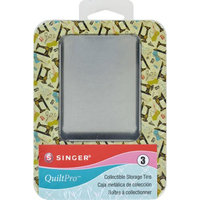 Singer QuiltPro Collectible Storage Tins 3/Pkg