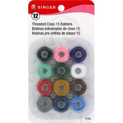 Singer NOTM262552 - Transparent Plastic Class 15 Bobbins - Threaded