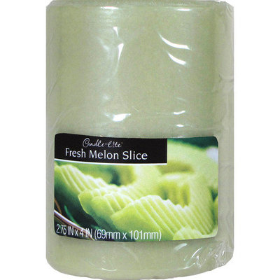 Candle lite 4 Fresh Melon Slice Scented Pillar Candle
