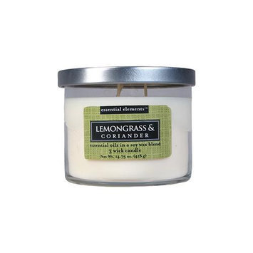 Candlelite Candle-lite Essential Elements 14.75 oz. 3-Wick Candle with Soy Wax