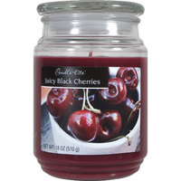 Candle lite 18 Oz Black Cherry Scented Terrace Jar Candle