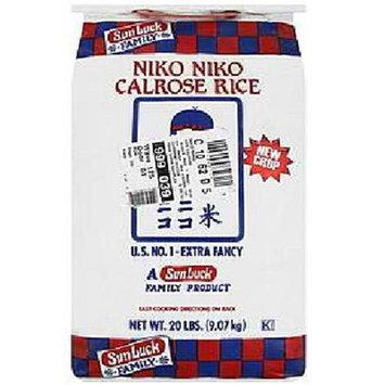 Sun Luck Niko Niko Calrose Rice, 10 lb, - Pack of 4