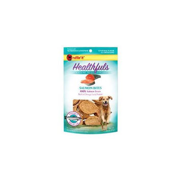 Ruffin'It Healthfuls Wholesome Treats for Dogs Salmon Bites-3 oz Bag