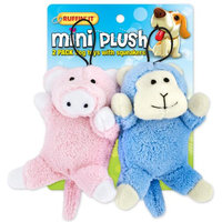 Westminster Pet Products Mini Plush 2pk Puppy Toys - Pig And Monkey