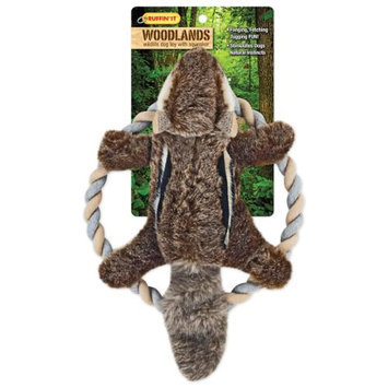 Westminster Pet Products Woodlands Plush Chipmunk Rope Ring Tosser Dog Toy