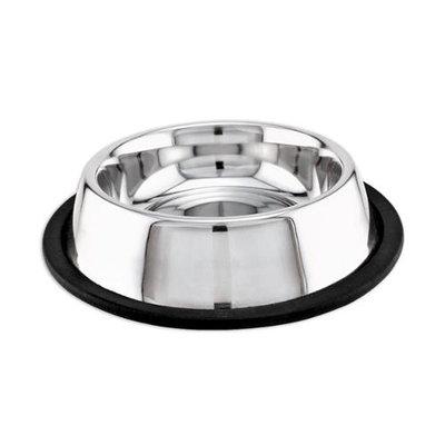 PetEdge ZW14216 No-Tip Non-Skid Stainless Steel Bowl 16 Oz