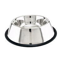 24 Ounces Ss Noskid Pet Bowl 19124 by Westminster Pet Products
