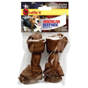 Westminster Pet Products American Beefhide 45in Beef Basted Flat Knot Bone 2/Pkg