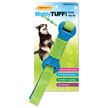 Westminster Pet Products Mighty Tuff Ribbed Bone Tug Dog Toy
