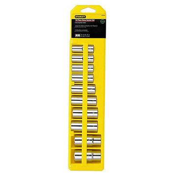 Stanley 95 446 11 Piece 1 2 Inch Drive Deep Socket Set Metric Brand New