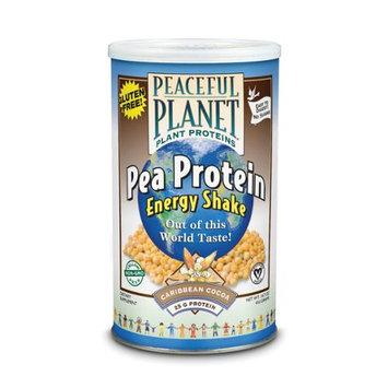 VegLife Peaceful Planet Pea Protein Energy Shake Caribbean Cocoa 14.7 oz - Vegan