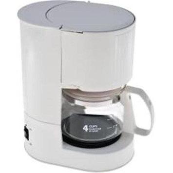 National Brand Alternative 632603 Coffee Maker 4-Cup White