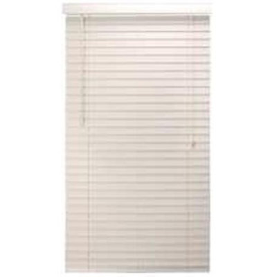 Interline Brands Designer's Touch 883613 Faux Wood 2-Inch Plantation Style Miniblind, 32 by 60-Inch, White Finish