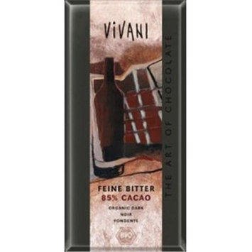 Vivani 39038 Organic Dark Chocolate Bar With 85 Co