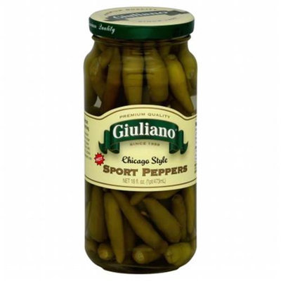 Kehe Distributors GIULIANO 39604 GIULIANO PEPPER SPORT CHICAGO STYL - Pack of 6 - 16 OZ