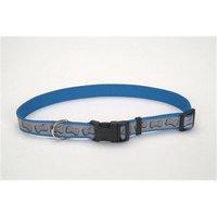 Coastal Pet Products CO46444 Lazer Brite Reflectve Collar - Bones 12 in. -18 in.