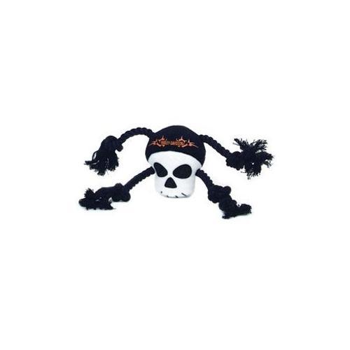 Harley Davidson Plush Rope Tug Toy-Skull