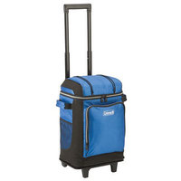 Coleman 42-Can Wheeled Soft Cooler With Hard Liner, Blue