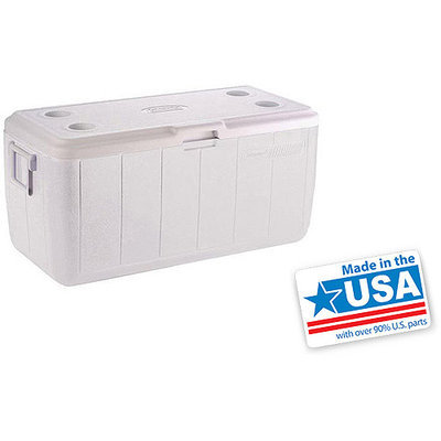 Coleman 100-Quart Cooler without Tray, White