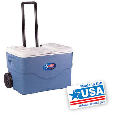 Coleman Xtreme 5 75-Quart Wheeled Cooler, Blue