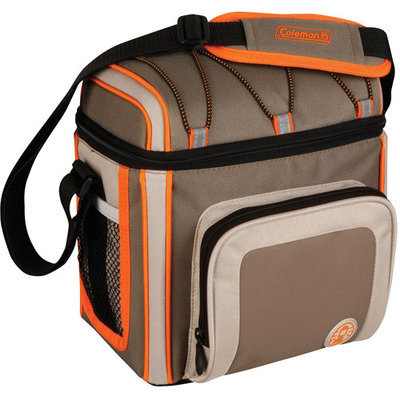 Coleman 9 Can Soft Cooler Outdoor With Liner Tan