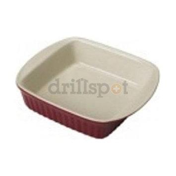 2 Quart Red Ceramic Square Dish 04409 by Bradshaw
