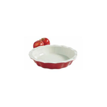 9 Inch Red Ceramic Pie Plate 04412 by Bradshaw