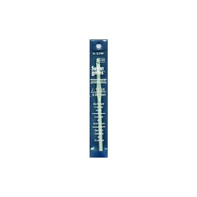 Susan Bates 71802 Quicksilver Aluminum Crochet Hook 5.5 in. -Size J 10