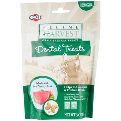 Ethical Products Inc Feline Harvest Dental Treats 3oz-Tuna Flavor