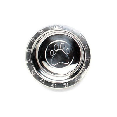 Topdawg Pet Supply SPOT Stainless Steel Embossed Wide Rim Dish