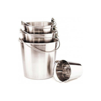 Ethical Ss Dishes Stnls Steel Pail With Handle 13 Quart - 6440