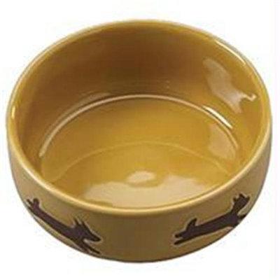 Ethical Stoneware Dish - Southwest Dog Dish- Desert Sand 7 Inch