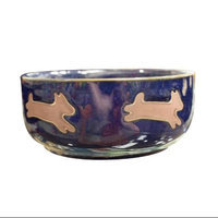 Ethical Stoneware Dish - Southwest Dog Dish- Midnight Sky 5 Inch