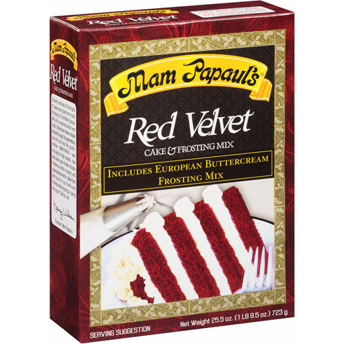 Mam Papaul's Mam Papauls Red Velvet Cake and Frosting Mix, 26.66 oz, Pack of 6