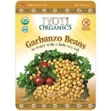 Jyoti Organics BG14698 Jyoti Organics Garbanzo Beans - 6x10OZ