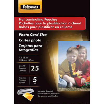 Fellowes Manufacturing Company Fellowes Glossy Photo Laminating Pouch