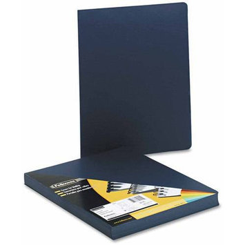 Fellowes Executive Navy Oversize Binding Covers, 50 Pack