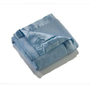 Elegant Baby Blue Microfiber Blankie - blue size: one size