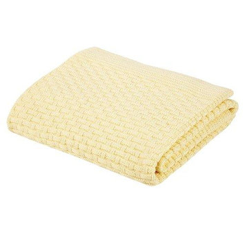 Elegant Baby Ribbed Blanket, Butter Yellow, 36 X 45 89155
