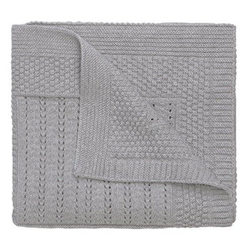 Elegant Baby Knit Baby Blanket in Grey Star