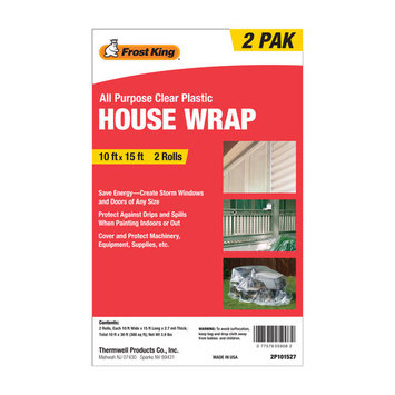 FROST KING 2P101527 House Wrap, Clear,15 Ft